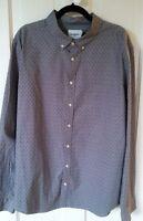 Goodfellow & Co Men's XXL Slim fit button up shirt long sleeve HAMMER print