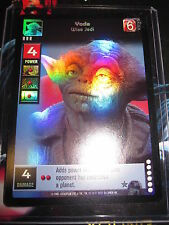 SWCCGYJ CCG YOUNG JEDI REFLECTIONS FOIL MINT SUPER RARE N° P12 YODA WISE JEDI