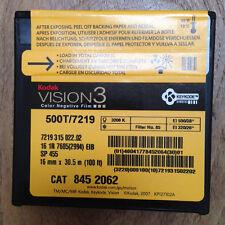 100 pi (30,5 m) Kodak 16 mm Vision3 500 t 7219 Couleur Neg Film Stock dernier lot