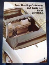 BMW BAUR HARDTOP Cabriolet 3 Series Sales Brochure c1979 GERMAN