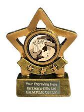 Cards Poker Flush Star Trophy 8 cm Award ENGRAVED FREE