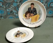 Vintage President and Mrs. John F. Kennedy Collector plate and matching Ashtray