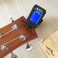 Digital Guitar Tuner LCD For Electronic Chromatic Violin Ukulele Bass Clip on SL