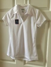 Izod Girl's Approved School Uniform Polo Shirt M (7/9) Color White Nwt