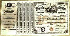 3 REVENUE TAX IRS Receipt/Special Stamp 1883 $2.40 Tobacco BEP Printed PpdUS