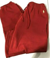 Polo Ralph Lauren Women's SZ M Red with Gold Pony Jogger Sweatpants