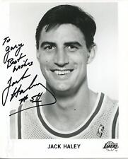 Jack Haley Autograph Signed Basketball Photo Los Angeles Lakers Chicago Bulls