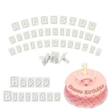 64Pcs Fondant Cake Alphabet Letter Cookies Biscuit Stamp Embosser Mold Cutter CB