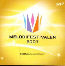 2 CD Melodifestivalen 2007, schwedisch, Eurovision,Pre-Selection Sweden Schweden