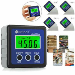 4*90° Digital Bevel Box Gauge Angle Finder Protractor Inclinometer Magnetic Base