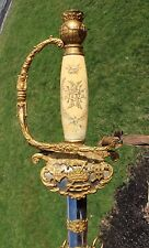 WONDERFUL RARE 1800s ANTIQUE ODD FELLOWS HIGHLY ORNATE PATRIARCHS MILITANT SWORD