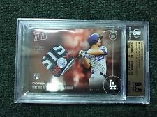 TOPPS NOW #OS-16F COREY SEAGER NLDS JERSEY SWATCH RELIC /10 ROY  BGS 9.5 RARE