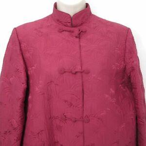Vtg Hanae Mori Small Quilted Silk Brocade Jacket Women