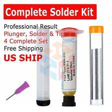 60-40 Tin Lead Rosin Core Solder Wire Soldering Sn60 Pb40 & Flux Paste Syringe