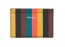 Paul Smith Wallet - BNWT Signature Bright Multi Stripe Credit Card Holder Case