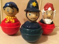 COLLECTIBLE VINTAGE NODDY MR PLOD & BIG EARS WOBBLE TOY FIGURES
