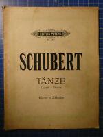 Schubert Tänze Klavier zu 2 Händen Edition Peters Nr.150 H11066