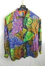 Robert Graham COSMIC RAYS 4XLT Vibrant Paisley Multicolor Shirt Button Down 4XL