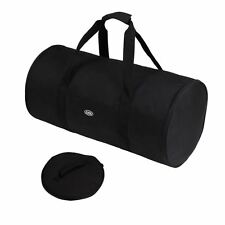 Large Foldable Sports Cargo Lightweight Travel Weekend Holdall Duffle Bag Black