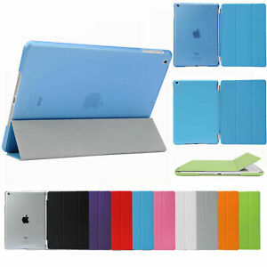 Smart Cover Hard Back Case for Apple iPad 8th 7th 6th Gen iPad 6 5  mini Air Pro
