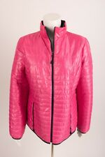 Talbots Women's Coat Jacket Medium Shiny Pink Quilted Primaloft Full Zip Pockets