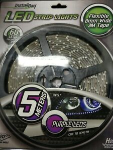 Install Bay 5MPP 5 Meter 300 Purple LEDs Water Resistant Retail Strip Light New