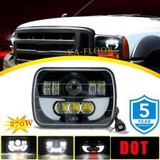 DOT 7X6 5X7 LED Headlight Halo DRL for Ford E-150 E-350 Econoline Club Wagon Van