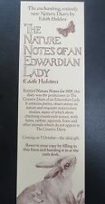 BOOKMARK Edith Holden Nature Notes of an Edwardian Lady Promotional ADVERTISING