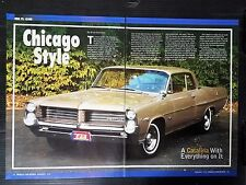 1964 Pontiac Catalina  4-Page Article - Free Shipping