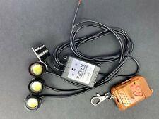 4 in 1 Strobe Grille DRL Light Eagle Eye LED Lamp Remote Control Kit B A V S