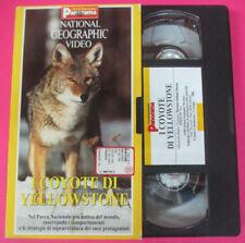 VHS film I COYOTE DI YELLOSTONE National geographic PANORAMA (F107) no dvd