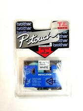 """Genuine Brother P-Touch 12mm 1/2"""" Laminated Black Ink on White Labels for PT-540"""