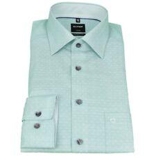 Olymp Herren Luxor Modern Fit Hemd grün weiß Kreise 1229 14 41