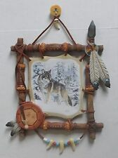 2002 Bradford Exchange Mystic Pathfinder Wolf Wall Art 5th Sacred Powers w/COA