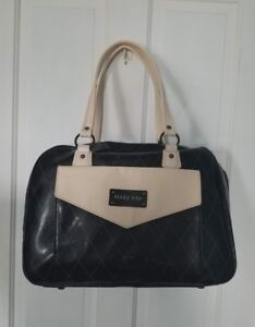 Mary Kay gorgeous black, gray, white large purse/carry-on & matching make-up bag