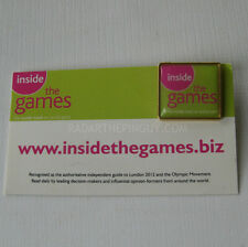 2012 London Summer Olympic Inside The Games Media Pin