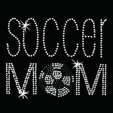 Rhinestone Transfer - Hot Fix Motif -  Soccer Mom