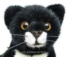 """Kösener Katze """"Fini"""", liegend, Kösen #5470 Kuscheltier, Stofftier - naturgetreu"""