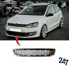 NEW VW POLO 6R 2009 - 2014 FRONT BUMPER LOWER CENTER GRILLE WITH CHROME TRIM