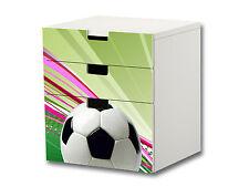 """""""Fußball"""" Aufkleber passend für die Kommode IKEA STUVA (3 Fächer) - S3K12"""