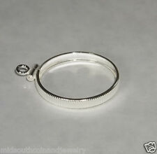 Coin Bezel Mount U.S. Cent Reeded Coin Edge Frame Sterling Silver No Bail
