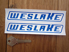 WESLAKE Blue & White script Stickers 150mm Speedway etc