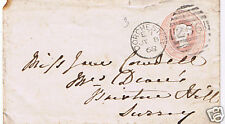 Great Britain 1868 1 pence Embossed Stampless Queen Victoria DORCHESTER COVER