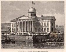 QUEBEC VILLE LA DOUANE CUSTOMS CANADA  IMAGE 1875 PRINT