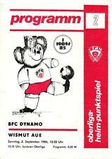 Stadion-/Programmheft BFC Dynamo Berlin - Wismut Aue 1984 (DDR Oberliga)