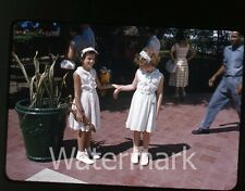 1957  kodachrome Photo slide  Colombia girls with bird   CC11