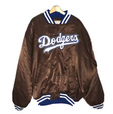 Rare Brown Vintage Dodgers Satin Jacket Mens 2XL Starter jacket CLASSIC