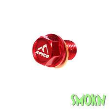 Apico Magnetic Sump Drain Bolt Honda CR 80 85 125 250 500 83-07 Billet Alloy Red