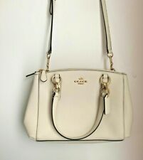 NWOT COACH WOMEN'S BEIGE/LIGHT SADDLE SYNTHETIC LEATHER CROSS-BODY CARRYALL BAG