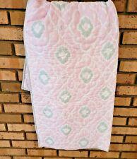 "Pottery Barn Kids Pink Reversible Baby Girl Quilt Blanket 36"" x 50"""